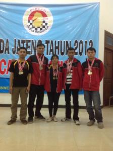 Pemain Undip peraih Medali Emas dan Perak pada POMDA Jateng 2013