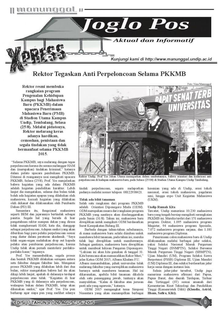 Joglo Pos Express Edisi I_Tahun V_26 Agustus 2015_page 1
