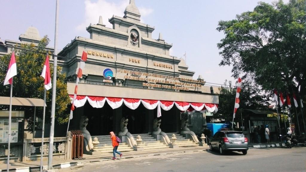 Suasana Monumen Pers Nasional menjelang HUT RI ke-70 di Surakarta, Jawa Tengah. (Nina/Manunggal)