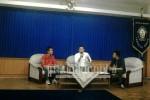 Dekan Fakultas Teknik (FT), Agung Wibowo menyampaikan kesiapan FT mengenai pengadaan sekolah vokasi, Rabu (30/3). (Putri/Manunggal)