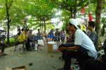 Diskusi Gerakan Mahasiswa Pembela Kendeng (GMPK) terkait persoalan Semen Kendeng bertempat di Kampus Universitas Muhammadiyah Semarang, Senin (20/3). (Annisa/Manunggal)