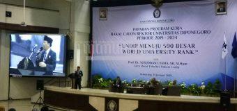 Bakal Calon Rektor Undip Paparkan Visi Undip Menuju 500 Besar World University Rank