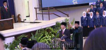 Pelantikan Rektor, Prof. Yos Sampaikan Pencapain Undip