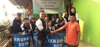 Mahasiswa KKN Undip Tim II Desa Kembanglangit Menciptakan Sistem Diversifikasi Pengelolaan Sampah secara Masif