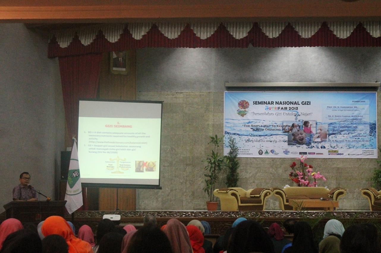 HMJIG Adakan Seminar Nasional A Simple Way to Keep Healthy with Drinking Water
